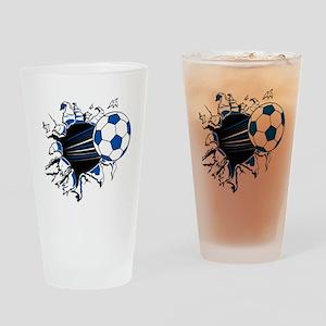 Soccer Ball Burst Drinking Glass
