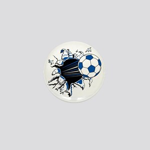 Soccer Ball Burst Mini Button