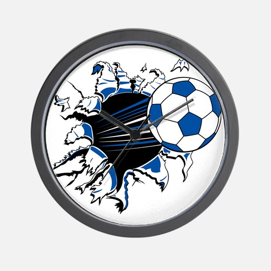 Soccer Ball Burst Wall Clock