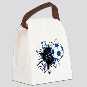 Soccer Ball Burst Canvas Lunch Bag