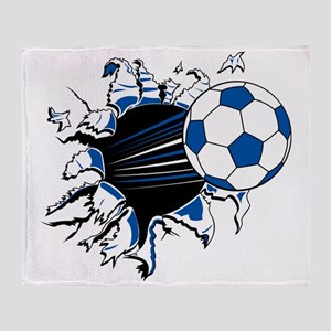 Soccer Ball Burst Throw Blanket