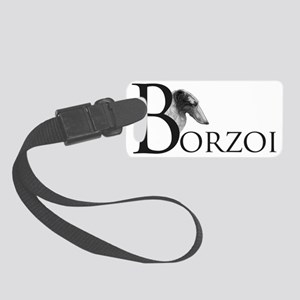 BorzoiLogoBlack Small Luggage Tag