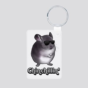 chinchillas Aluminum Photo Keychain