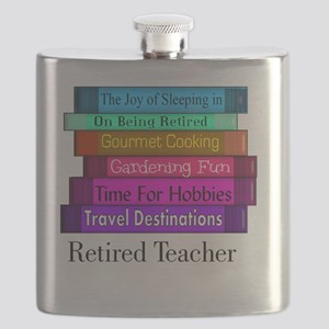 retired teacher pendant Flask