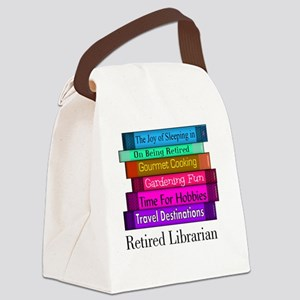 retired Librarian pendant Canvas Lunch Bag