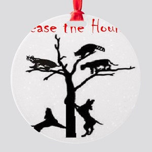 coon treed plain Round Ornament