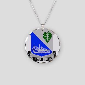 442 Infantry Regiment Necklace Circle Charm
