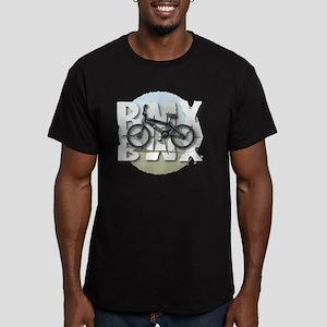 BMX GRAPHITE CIRCLE Men's Fitted T-Shirt (dark)