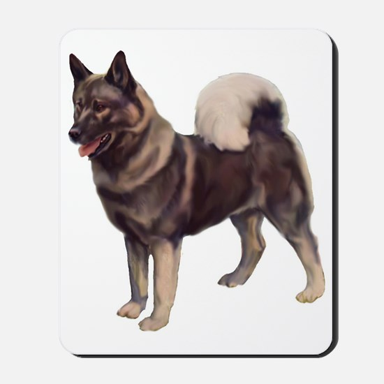 norwegian elkhound standing Mousepad