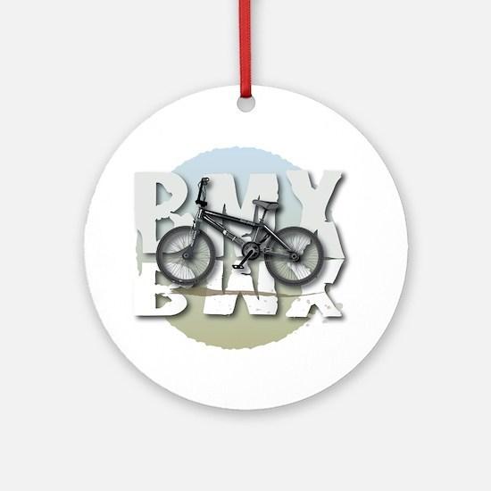 BMX GRAPHITE CIRCLE Round Ornament