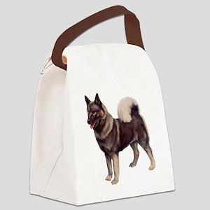 norwegian elkhound standing Canvas Lunch Bag