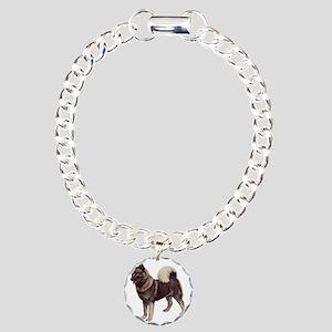 norwegian elkhound stand Charm Bracelet, One Charm