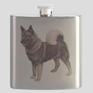 norwegian elkhound standing Flask