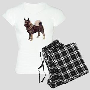norwegian elkhound standing Women's Light Pajamas