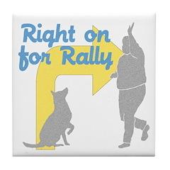 Rally 1 Tile Coaster
