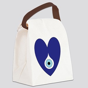 evil eye heart Canvas Lunch Bag