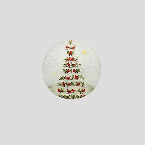 arbre-oiseaux-christmas-tree-lore-M Mini Button