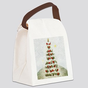 arbre-oiseaux-christmas-tree-lore Canvas Lunch Bag