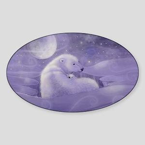 Gentle Winter cp Sticker (Oval)