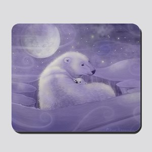 gentle winter square Mousepad