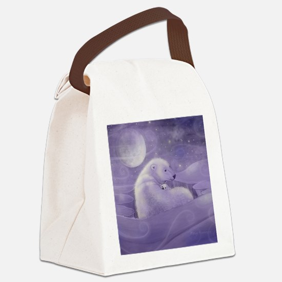 gentle winter square Canvas Lunch Bag