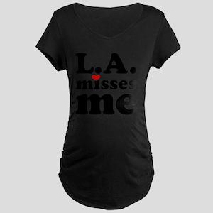 LAMM-bck-red Maternity Dark T-Shirt