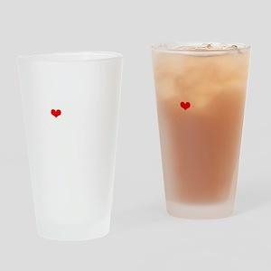 LAMM-wht-red Drinking Glass