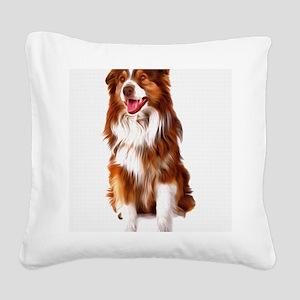 aussie Square Canvas Pillow