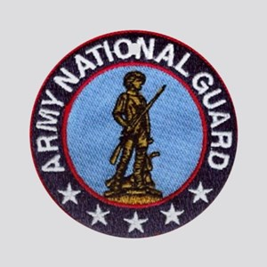 national guard Round Ornament