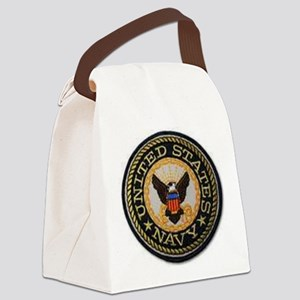 navy Canvas Lunch Bag