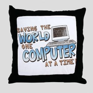 Saving the World Throw Pillow