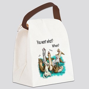 U Want What Canvas Lunch Bag