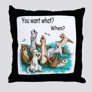 U Want What Throw Pillow