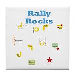 Rally 3 Tile Coaster