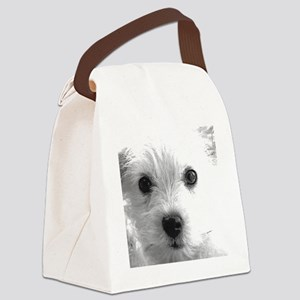 1212 cute dog face by vampire dog Canvas Lunch Bag