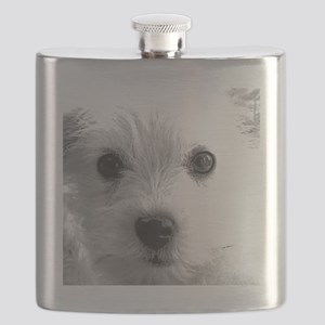 1212 cute dog face by vampire dog copy Flask