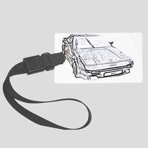 black_mr2 Large Luggage Tag