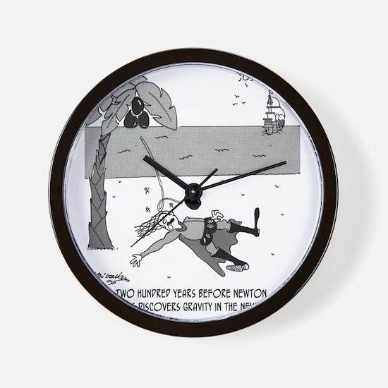 5028_physics_cartoon Wall Clock