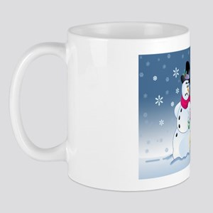 snowmanbrownlabcard Mug