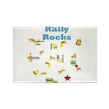 Rally 4 Rectangle Magnet