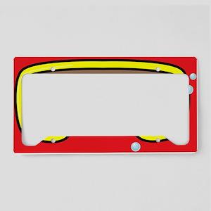 goggle_flipflop_red_N License Plate Holder