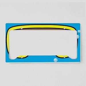 goggle_flipflop_blue_N License Plate Holder