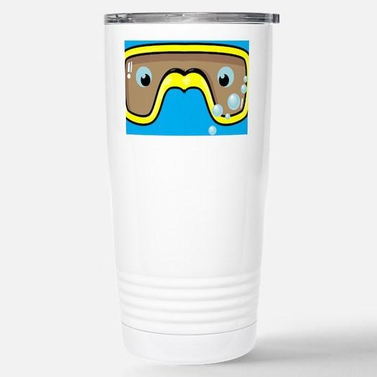 goggle_flipflop_blue_N Stainless Steel Travel Mug