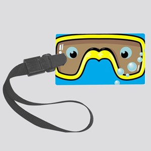 goggle_flipflop_blue_N Large Luggage Tag