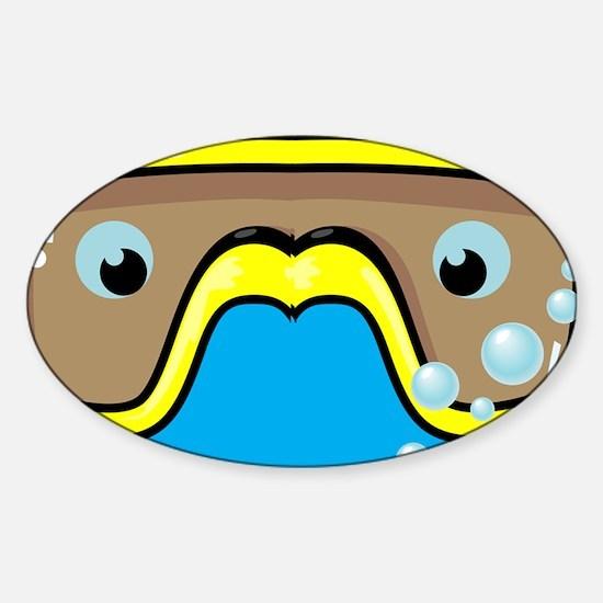 goggle_flipflop_blue_N Sticker (Oval)