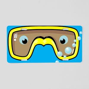goggle_flipflop_blue_N Aluminum License Plate