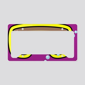 goggle_mpad_purple_N License Plate Holder