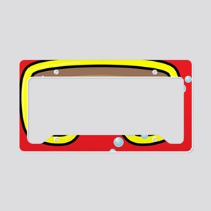 goggle_mpad_red_N License Plate Holder