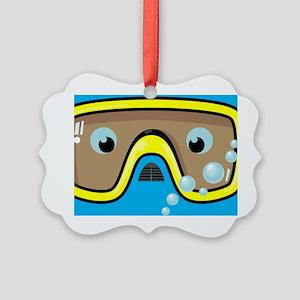 goggle_mpad_blue_N Picture Ornament