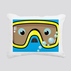goggle_mpad_blue_N Rectangular Canvas Pillow